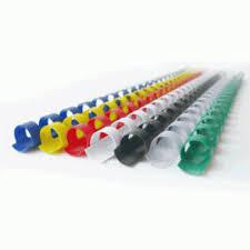 <b>Пружина для переплета</b>, 14мм, 1-110л, пластиковая, белая ...