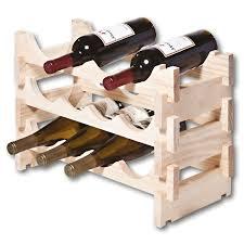 vinrack wooden wine rack 12 bottle natural pine
