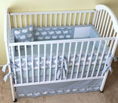 weathered blue whale tales crib bedding