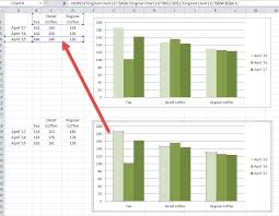 How To Copy An Excel Chart On Same Worksheet With A New Data