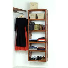 john louis home standard closet shelving system red mahogany john home standard stand alone tower red