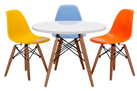ingenious children table and chair sets design with round table and white tabletop including colorful kids chairs and unusual furniture legs design