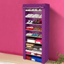 interior, Alluring Interior Room Design Ideas With Covered Shoe Rack Made  Of Fabric Material To