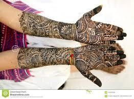 Indian Traditional Mehndi Design Hands Mehndi Design In Wedding Girl S Hand Stock Image Image Of