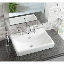 jacuzzi anna white ceramic drop in rectangular bathroom sink with overflow