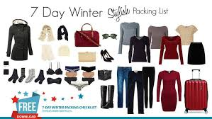 Packing Lists Dream Dream 360 Stylish Winter Packing List 7 Day Itinerary