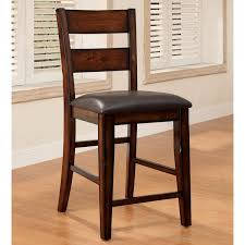 cherry counter height piece: furniture of america katrine dark cherry counter height dining chair set of furniture america counter