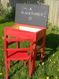upcycled hand painted vintage 1960s child s school desk and chair by bredonviewvintage on