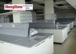 research institute resin countertops chemical resistant for school laboratory