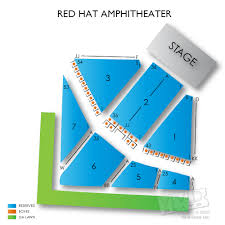 Raleigh Amphitheater Seating Chart Red Hat Amphitheater Seating Chart Vivid Seats Red Hats