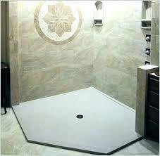 astonishing diy shower pan tile shower pan custom tile shower pan kit a comfy bathroom install