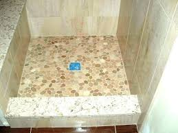 how to clean pebble stone shower floor better bathrooms river rock natural tile bathro