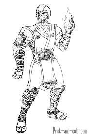 Small Picture Mortal Kombat coloring pages Print and Colorcom