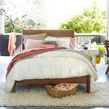 west elm bedroom furniture. Organic Cotton Pintuck Duvet Cover + Shams West Elm Bedroom Furniture