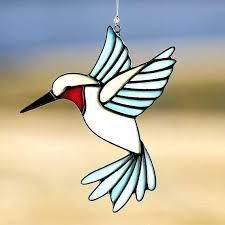 glass hummingbird ornaments hand blown ornament ideal bird figurine art hang