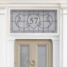 art nouveau house number stickers