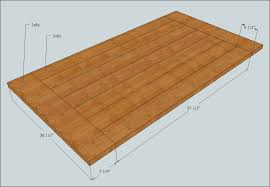 table top boards and dimensions