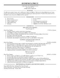 Resume Babysitter Responsibilities Professional Resume Templates