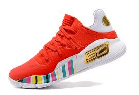 under armour curry 4. 2017 under armour curry 4 low rocket red aluminum-black for sale-3