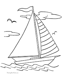 drawn sailing ship printable 1