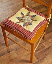 Country Star Chair Pad Cushions Kitchen Decor