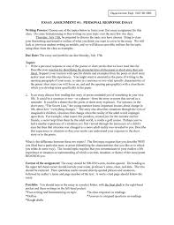 how to start a personal response essay sample essays of personal response academic home page