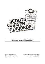 Windroos Januari Februari 2013 By Scouts En Gidsen Vilvoorde Issuu