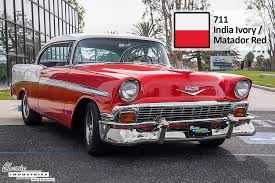 1957 chevy colors and paint codes