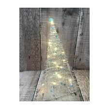 Clear Light Stick Tree Large Transparent Fused Glass Christmas Tree With Stand Lights