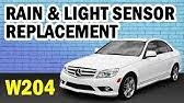 But i was under the impression that that is just the rain sensor, not the ambient light sensor. W204 Mercedes C Class Replace Light Rain Sensor Auto Lights Inoperative Youtube