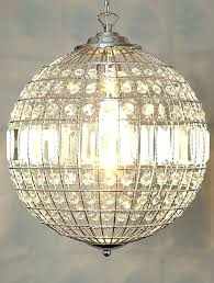 breathtaking sheer shade crystal ball chandelier image design