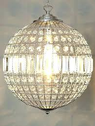 breathtaking sheer shade crystal ball chandelier image design