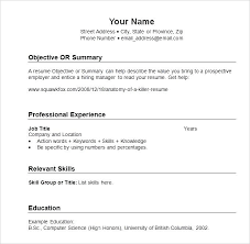 Resume Template Sample – Custosathletics.co