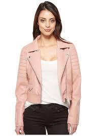 blank vegan leather moto jacket in pretty in pink