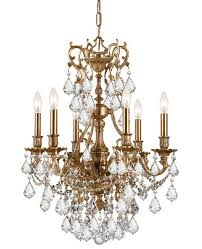 yorkshire 6 light clear crystal chandelier