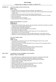 Resume For Analyst Job Analyst Derivatives Resume Samples Velvet Jobs 31