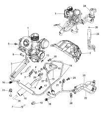 2008 dodge caliber exhaust manifold turbocharger hoses tubes heat shield diagram