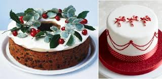 christmas cakes decorating ideas from bbc good food.com (left) and Little  Venice