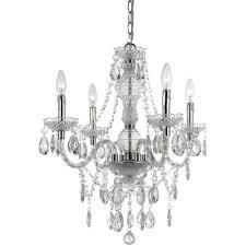 af lighting naples 4 light clear mini chandelier