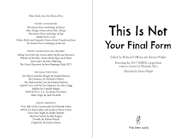 poems form this is not your final form the emma press ltd