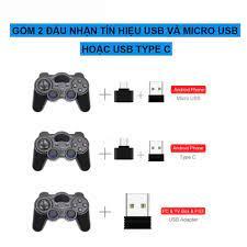 Tay cầm chơi game PC Laptop Điện Thoại TV Android TV Box Tay cầm chơi game  không dây USB Bluetooth 2.4G - Phụ Kiện Gaming