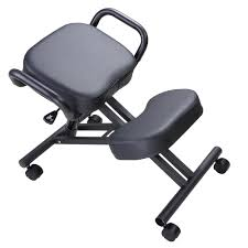 Kneeling Chair Design Plans Yescom Ergonomic Kneeling Chair Adjustable Stool With Thick Seat Knee Rest Handle Casters Home Office