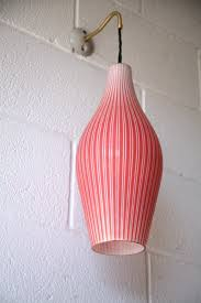 1950s red glass wall light 2