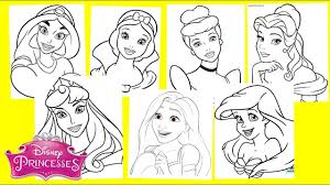 Facebook is showing information to help you better understand the purpose of a page. Disney Princesses Coloring Pages Jasmine Snow White Cinderella Ariel Belle Aurora Rapunzel Youtube