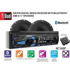dual electronics xc16sp high resolution lcd single din car stereo receiver with built in bluetooth, usb, mp3 player & two 2 way high performance 50 JVC Car Stereo Wiring Harness at Wiring Harness For Car Stereo Walmart