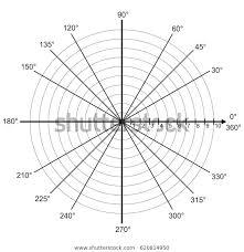 Blank Polar Graph Paper Protractor Pie Stock Vector Royalty