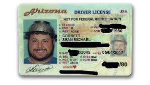 Arizona Az Photo License Man Wears Prescott For Courier The Daily Colander Driver's