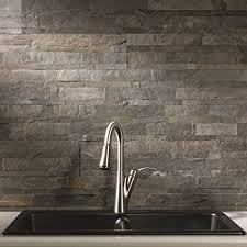 Caulking Kitchen Backsplash Stunning Amazon Aspect Peel And Stick Stone Overlay Kitchen Backsplash