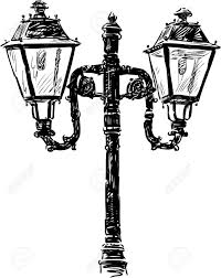 Drawing Street Light Vector Drawing Of An Old Street Lamp