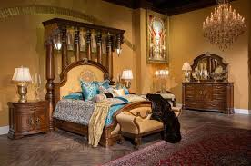 aico eastern king size bed grand masterpiece by michael amini